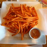 Yam fries with tasteless chipotle mayo
