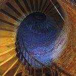 Spiral staircase around the ammunition shaft