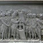 American Panel, Gutenberg Monument (David d'Angers (1840), Place Gutenberg
