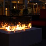 Neat: Inner courtyard fire place for colder summer evenings
