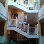 Las escaleras que nos llevaban a la habitación