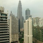 View of one of the Petronas Twin Towers