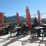 la terrazza del piccola bar adiacente al santuario (relax meritato !)