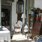 Even antiques out on the porches.
