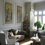 Enjoy the birds in the formal living room.