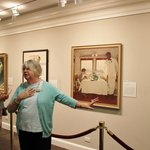Docent guide, Norman Rockwell Museum, Oct 2013
