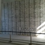 memorial wall in shrine room