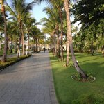 One of the walkways at the resort
