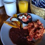 Local Breakfast.  Dont Miss the Blue Corn Pancakes!
