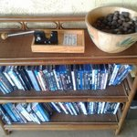 Macadamia nuts and DVD library