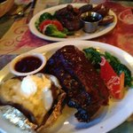 ribs and steak - generous portions!