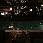 Evening time at the indoor pool!