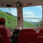 Approaching the New River Gorge Bridge