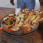 Fisherman's Platter - $125 includes lobster, crayfish and snapper