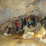 A local college group visits Appalachian Caverns
