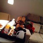 Café da manha no quarto!