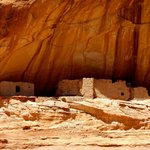 Ancient Indian Ruins in the wall of the Canyon