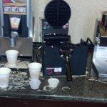 Waffle area - no syrup!