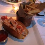 """Lobsta"" Roll with unbelievable French Fries!"