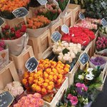 Flowers by the market
