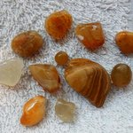 Agates collected from beachcombing