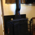 Wood burning stove (thanks to free bundle of wood)!