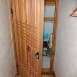 Door to bathroom for 3 people room