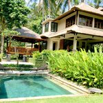The luxurious compound of villa cempaka