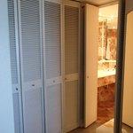 Pokey shutter door into bathroom