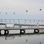 水族館付近からのバスコダガマ橋