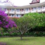 Hotel from garden