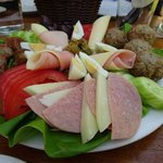 meaty buffet salad platter to share