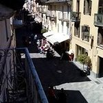 View of the central street of Via Sant Anselmo from one of the apartments