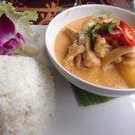 Porc curry rouge