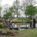 Kids fishing and enjoying themselves.