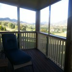 The beautiful view from the Settlers Cottage verandah