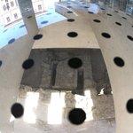 Archeology site underneath glass floor