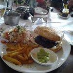 Ostrich meat Burger.