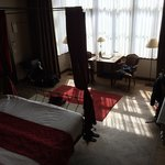 Sun streaming in the bay window at the front of the hotel - Room 11