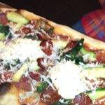 Pizza special zucchini and mozzarella