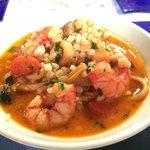 minestra di Orzo Perlato con frutti di mare