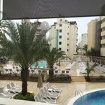 Swimming pool at the hotel