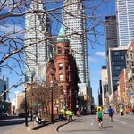 toronto marathon by the hotel.