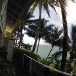 Shadey balcony to enjoy drinks.