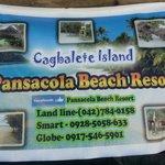 Contact details of resort