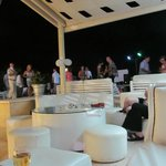 Evening at pool bar