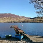 Loch Earn, just a short walk from the B&B.