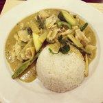 Spicy Thai green chicken curry
