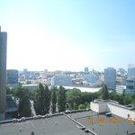 Вид с балкона (за деревьями метро)