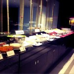 the breakfast buffet selection